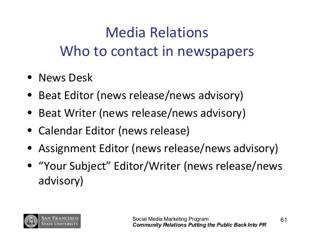 public relations analysis presentation and press release Public relations: the value and importance of research  or statistics for news releases  next campaign and prepares you for that big boardroom presentation as .