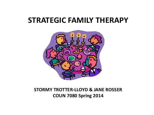 STRATEGIC FAMILY THERAPY  STORMY TROTTER-LLOYD & JANE ROSSER COUN 7080 Spring 2014