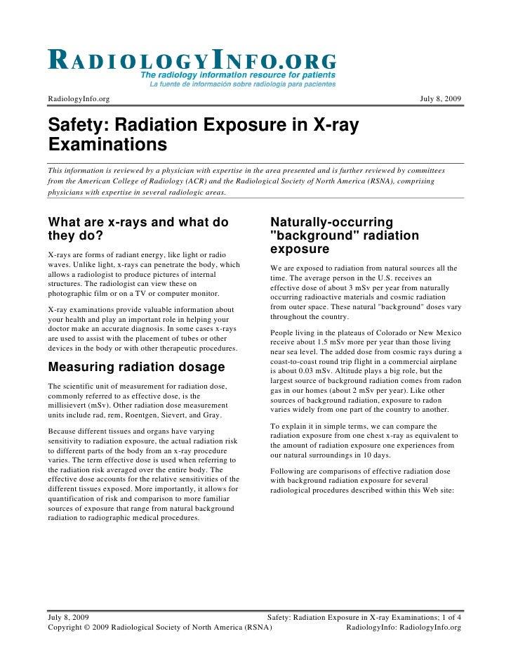RadiologyInfo.org                                                                                             July 8, 2009...