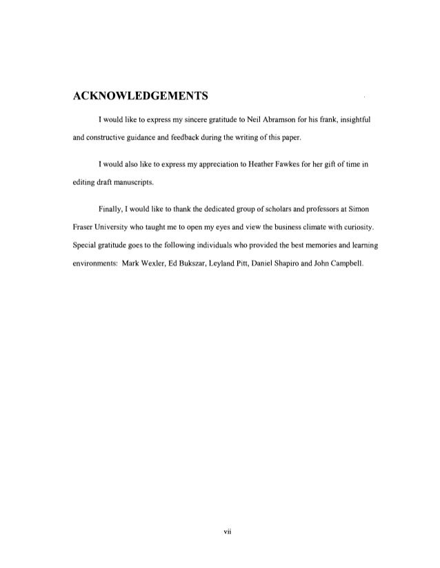 ACKNOWLEDGEMENTS I would like to express my sincere gratitude to Neil Abramson for his frank, insightful and constructive ...