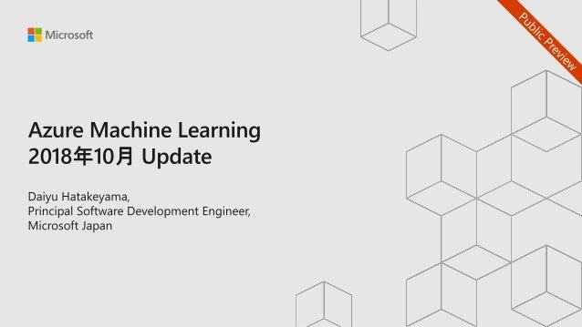 トレーニング済みのモデル ビジネスロジックにMLをアタッチ Azure Databricks VMs Deep Learning Framework Deep Learning モデルの作成 TensorFlow KerasPytorch Az...