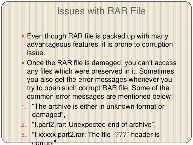 How to Repair Damaged RAR File?