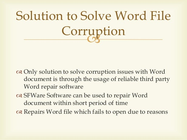 how to corrupt a word document