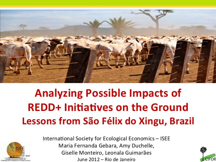 Analyzing Possible Impacts of           REDD+ Ini9a9ves on the Ground        Lessons from São Fé...