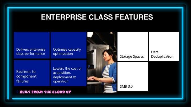 ENTERPRISE CLASS FEATURESDelivers enterprise   Optimize capacityclass performance     optimization                        ...