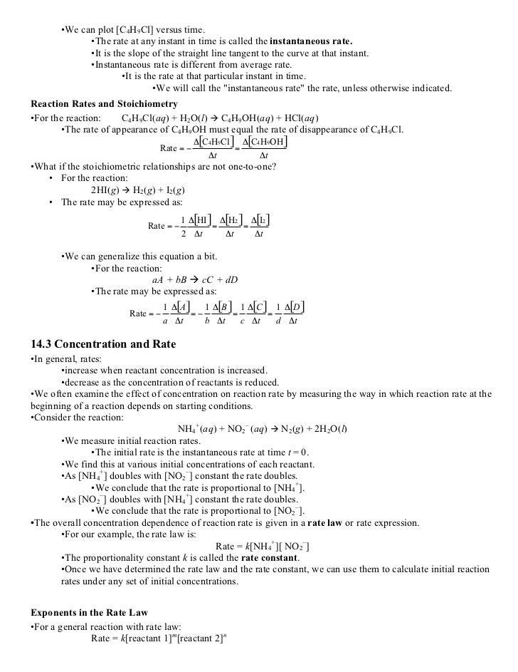 ap chemistry study guide kinetics rh slideshare net