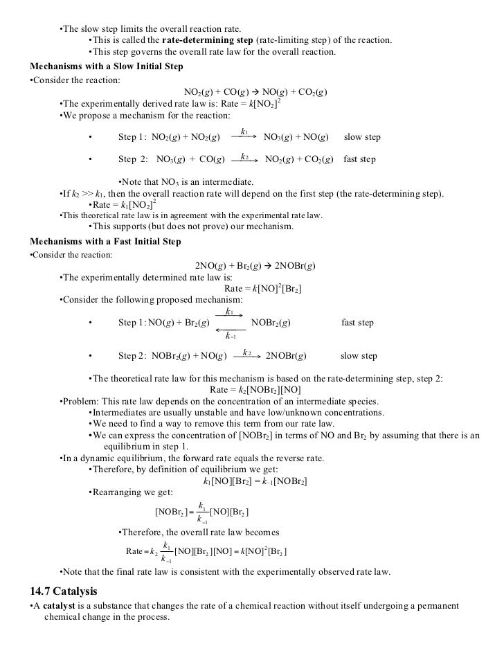 AP Chemistry Study Guide Kinetics – Rates of Reaction Worksheet