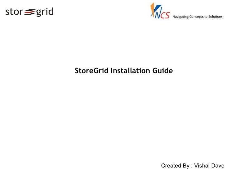 StoreGrid Installation Guide