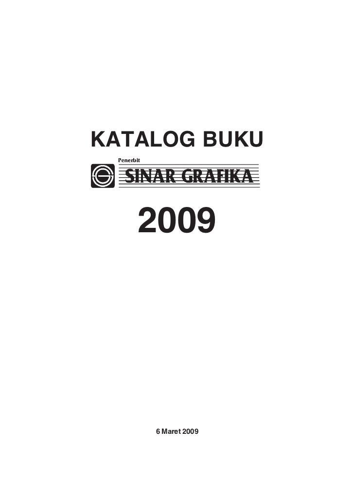 KATALOG BUKU   2009    6 Maret 2009        1
