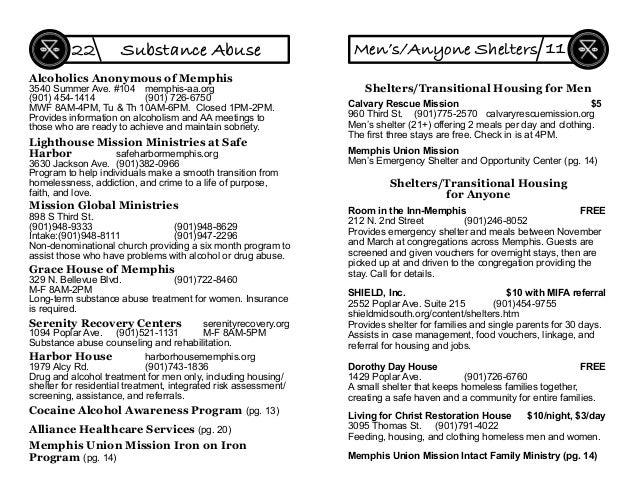 Memphis Union Mission Iron on Iron Program (pg. 14) Mission Global Ministries 898 S Third St. (901)948-9333 (901)948-8629 ...