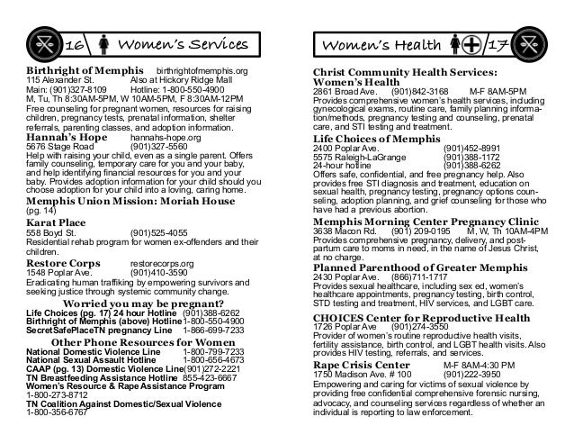 Birthright of Memphis birthrightofmemphis.org 115 Alexander St. Also at Hickory Ridge Mall Main: (901)327-8109 Hotline: 1-...