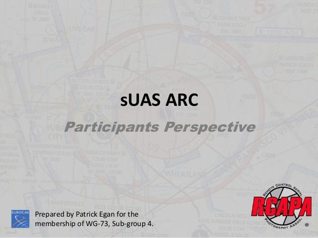 sUAS ARC Participants Perspective Prepared by Patrick Egan for the membership of WG-73, Sub-group 4.