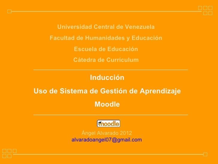 Universidad Central de Venezuela    Facultad de Humanidades y Educación           Escuela de Educación           Cátedra d...