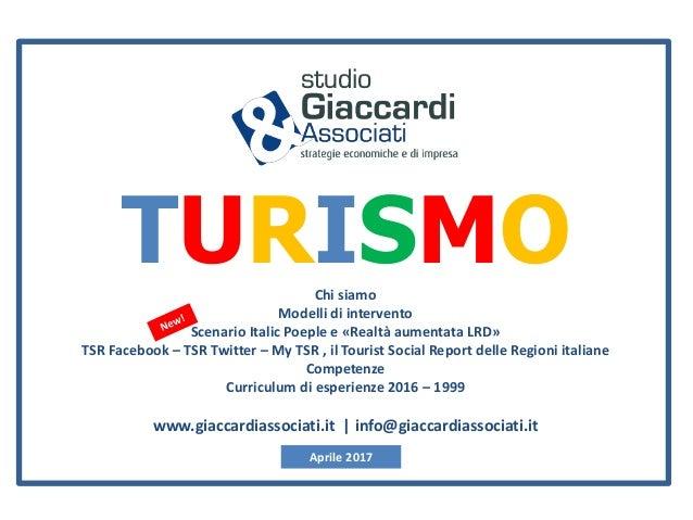 TURISMOChi siamo Modelli di intervento Scenario Italic Poeple e «Realtà aumentata LRD» TSR Facebook – TSR Twitter – My TSR...