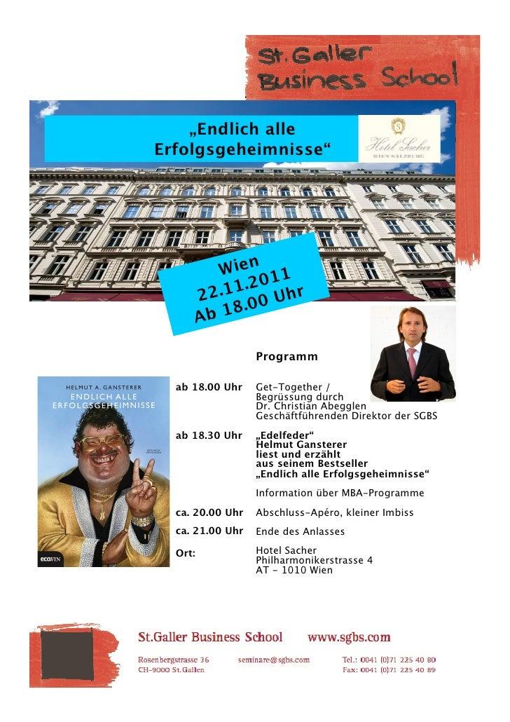 """""""Endlich alle                Erfolgsgeheimnisse""""                                          Wien 11            1 .20      22..."""