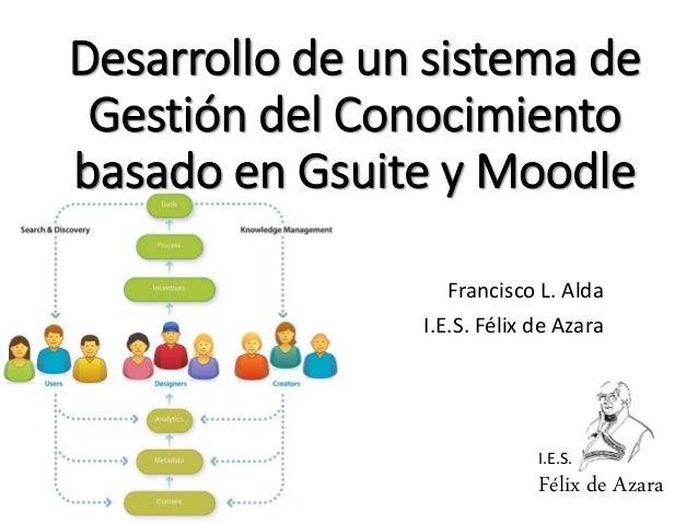 I.E.S. Félix de Azara Desarrollo de un sistema de Gestión del Conocimiento basado en Gsuite y Moodle Francisco L. Alda I.E...