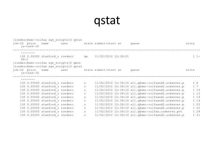 Slots qstat