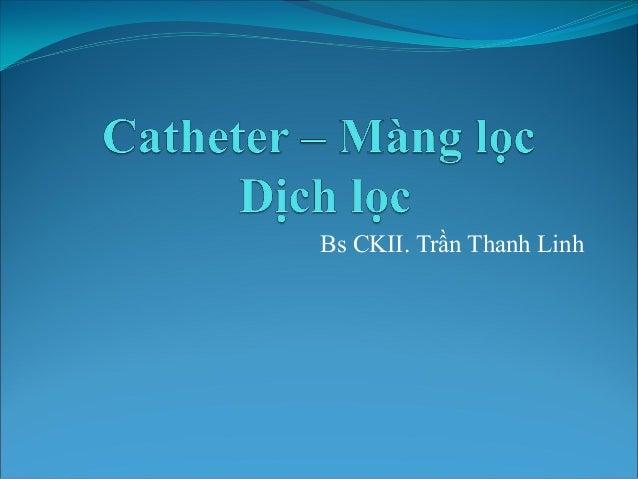 Bs CKII. Trần Thanh Linh