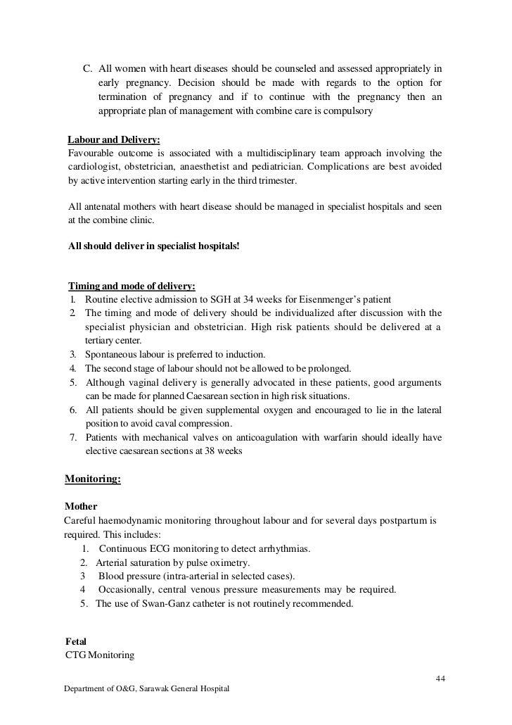 SGH Labour Ward Manual 2012