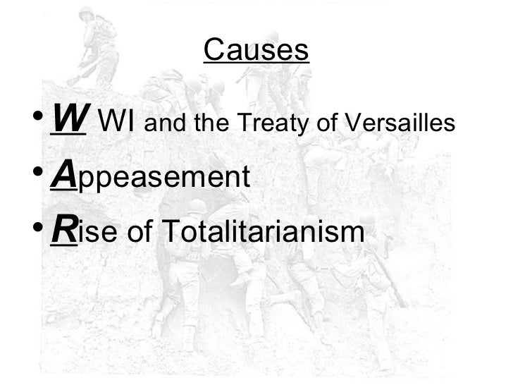 the cause of the world war ii The causes of world war two can be divided into long term causes and short term causes there can be little doubt that one of the long term causes of the war was the anger felt in weimar.
