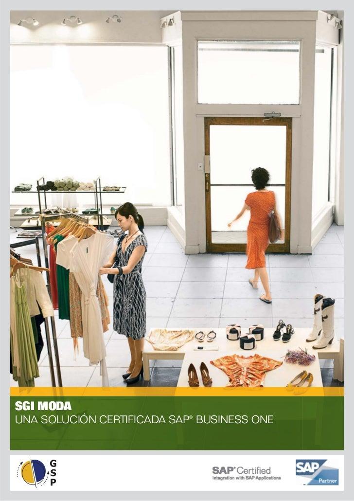 SGI MODAUNA SOLUCIÓN CERTIFICADA SAP® BUSINESS ONE
