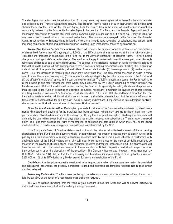 Sgi U.S. Low Volatility Equity Fund Final Prospectus 2 29 12