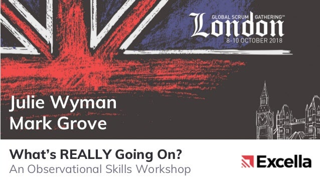 What's REALLY Going On? An Observational Skills Workshop Julie Wyman Mark Grove