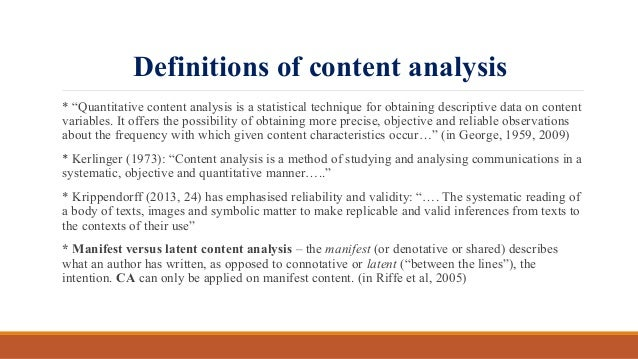 how to start an analysis content
