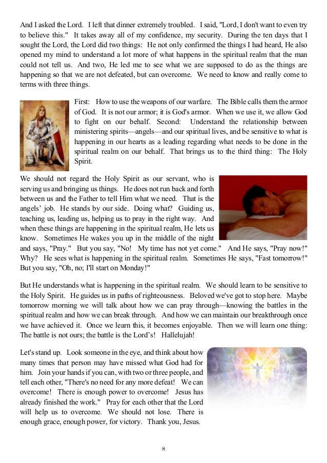 what happens in the spirit realm when we pray pdf