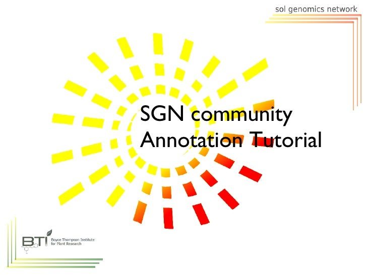 SGN community Annotation Tutorial
