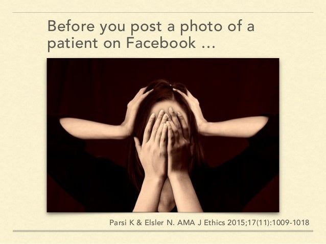 GIVE NOTICE TO PATIENTS THAT SOCIAL MEDIA IS NOT MEANT FOR CLINICAL COMMUNICATION Grotty B & Mostaghimi A. Confidentiality...