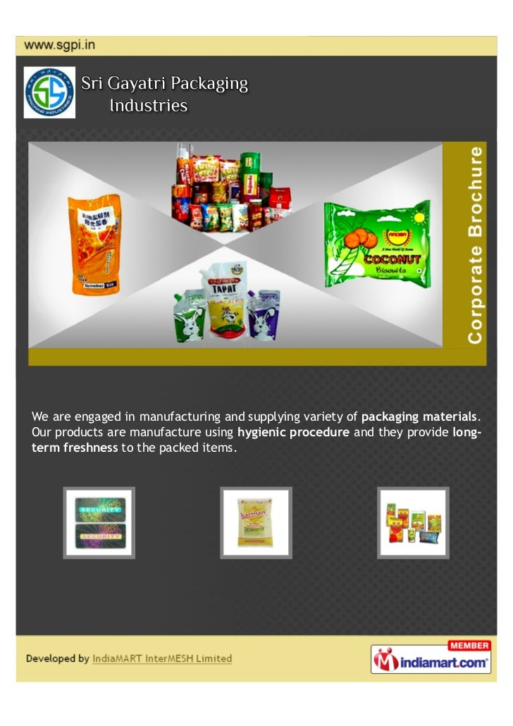We are engaged in manufacturing and supplying variety of packaging materials.Our products are manufacture using hygienic p...
