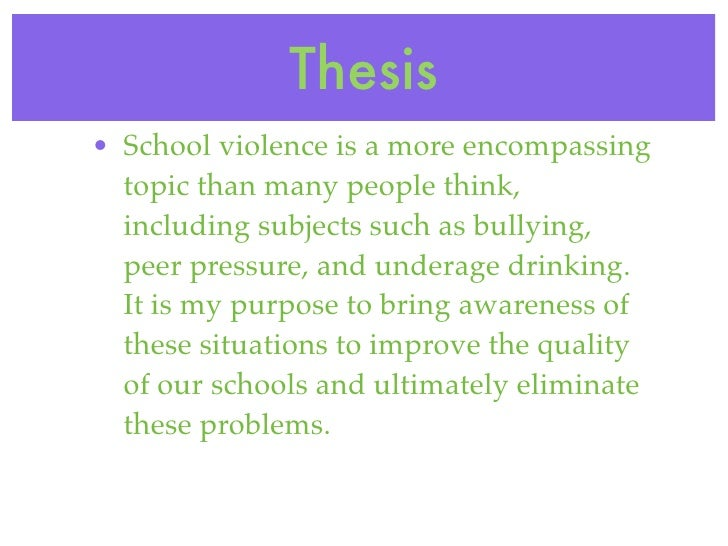 essays on school violence School violence essays violence among young people in society is increasing dramatically perhaps what is most alarming is that these violent acts are not only occurring on the streets, but in the school systems as well.