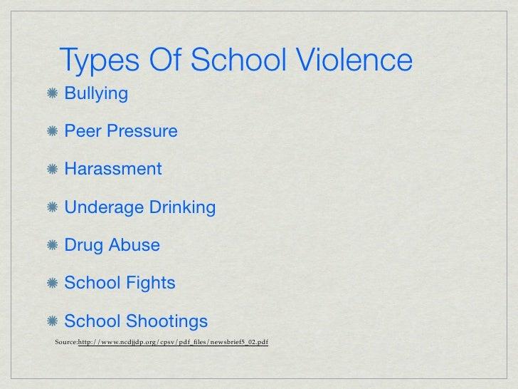 Sgp powerpoint school violence 13 types of school violence toneelgroepblik Gallery