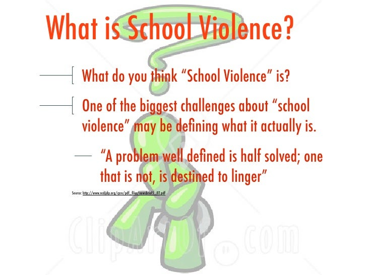 sgp powerpoint school violence  5 what is school violence