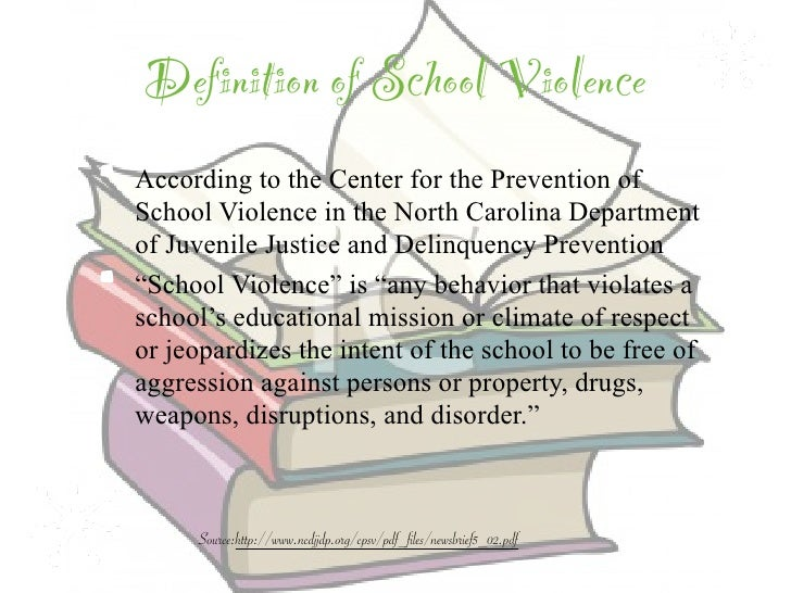 causes of school violence essay In this lesson, we will learn the definition and history of school violence we will also discuss the causes and effects of school violence there.