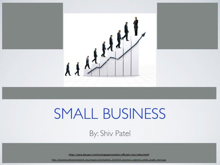 SMALL BUSINESS                                  By: Shiv Patel                 (http://www.sba.gov/contractingopportunitie...