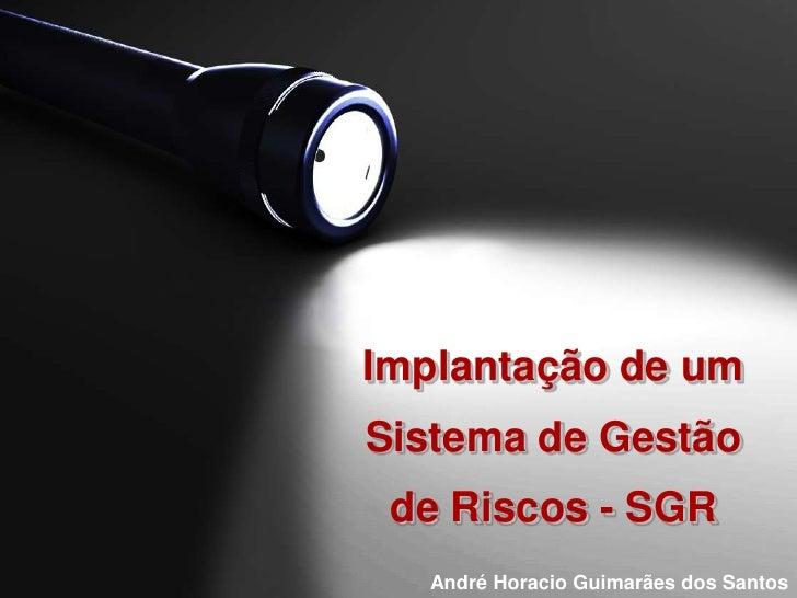 Implantação de um Sistema de Gestãode Riscos - SGR<br />André Horacio Guimarães dos Santos<br />