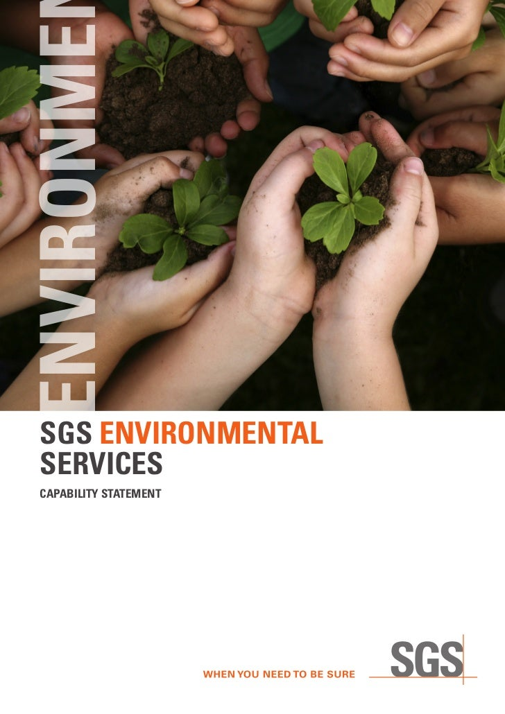 ENVIRONME SGS ENVIRONMENTAL SERVICES CAPABILITY STATEMENT