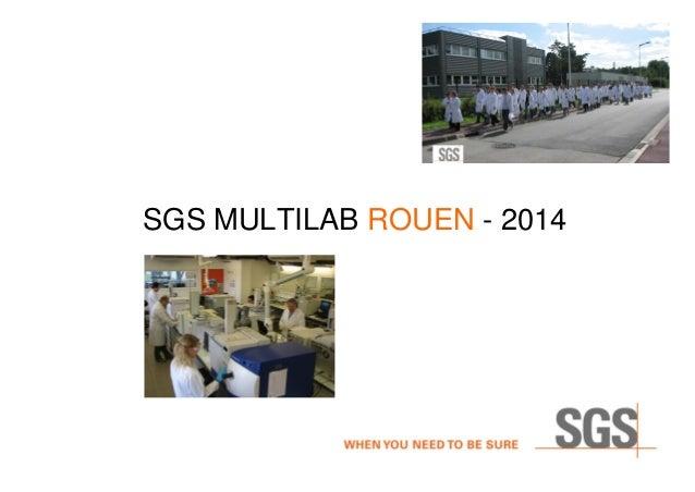 SGS MULTILAB ROUEN - 2014
