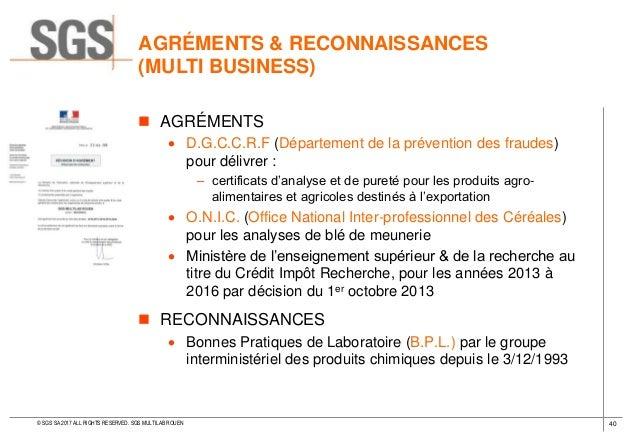 Laboratoire sgs sgs multilab rouen 2017 - Office national de recherche geologique et miniere ...