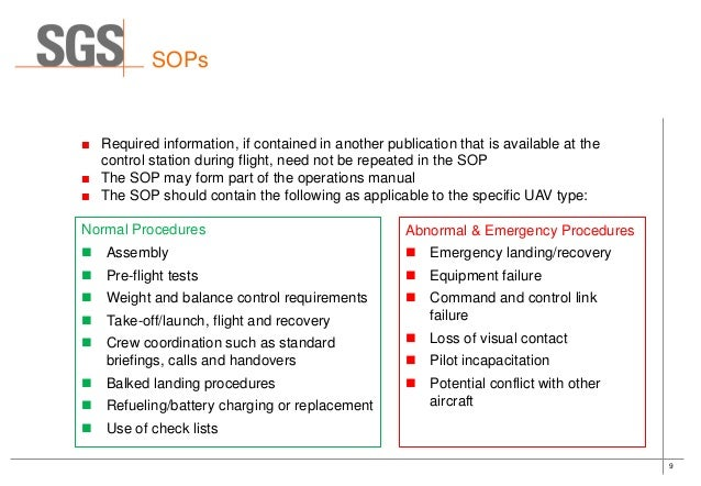 SGS - Development of UAV Operations Manuals