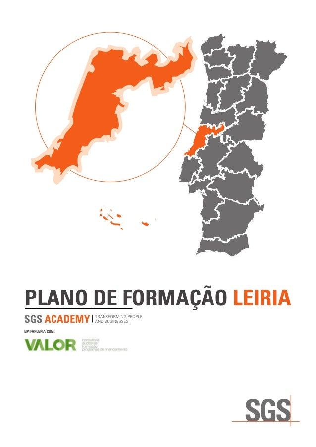 PLANO DE FORMAÇÃO LEIRIA EM PARCERIA COM: