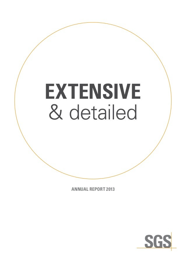 EXTENSIVE & detailed  ANNUAL REPORT 2013