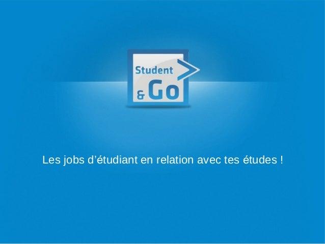 Les jobs d'étudiant en relation avec tes études !