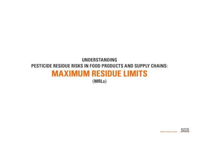 Understanding Pesticide Residue Risks in Food Products and Supply Chains