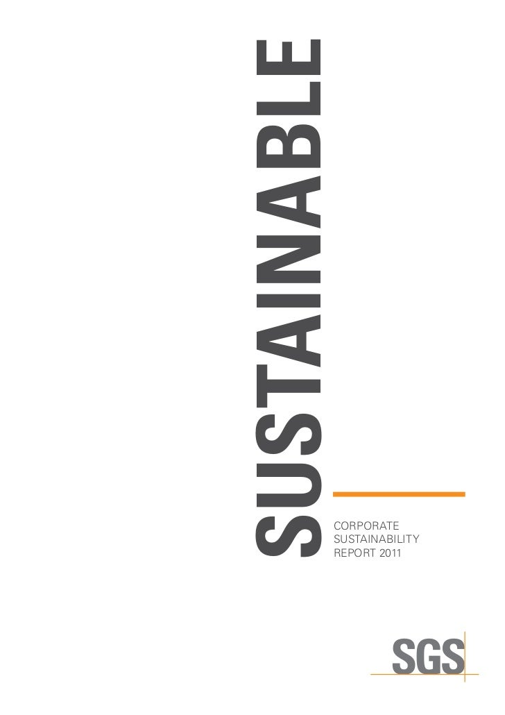 Sustainable          CORPORATE          sustainability          report 2011