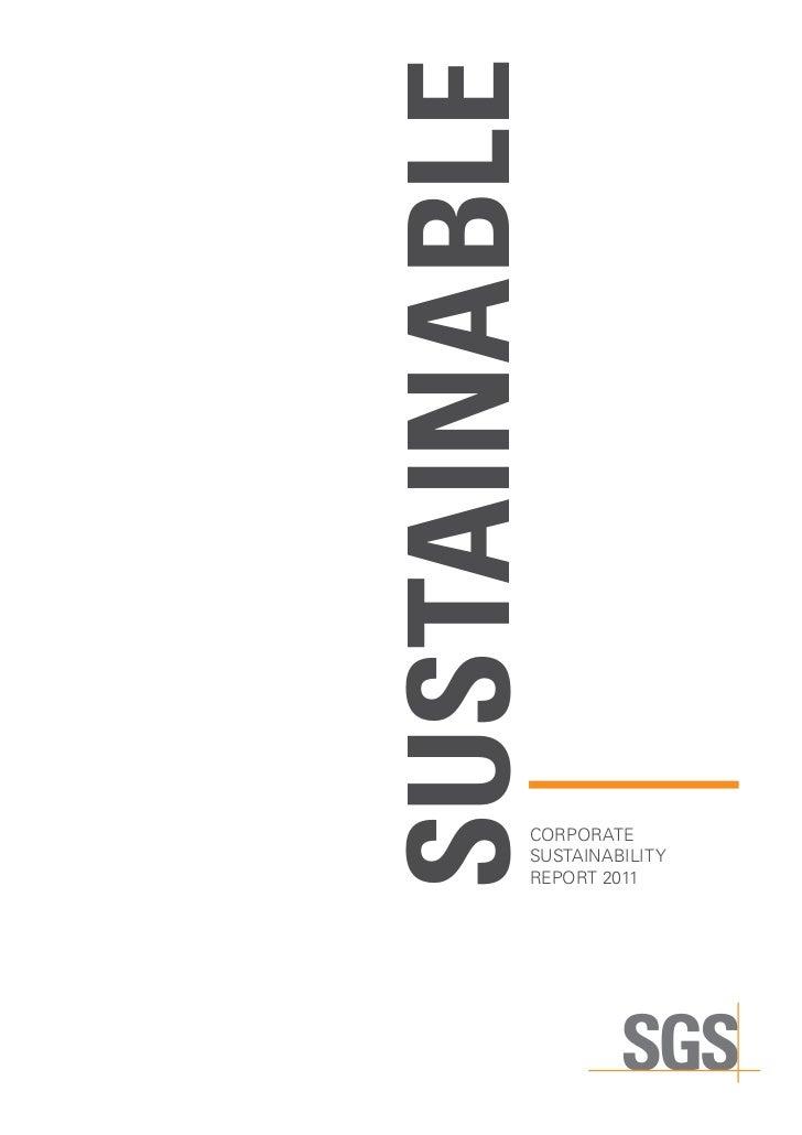 Sustainable          CORPORATE          sustainability          report 2011