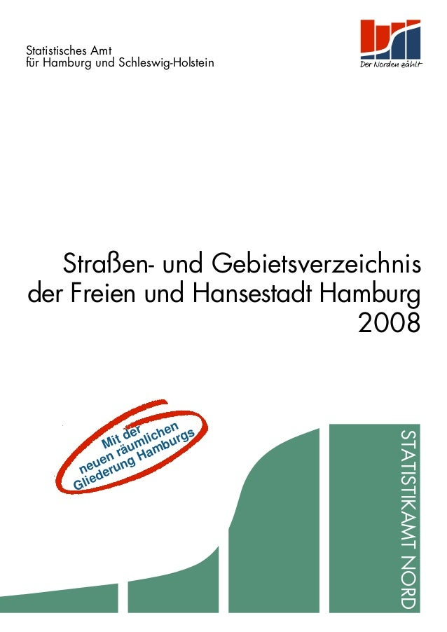 Statistisches Amt                    für Hamburg und Schleswig-Holstein                       Straßen- und Gebietsverzeich...