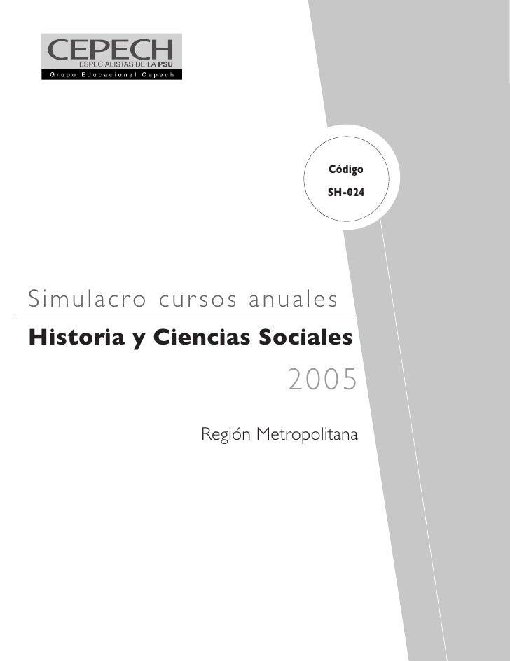 Código                               SH-024     Simulacro cur s os anuales Historia y Ciencias Sociales                   ...